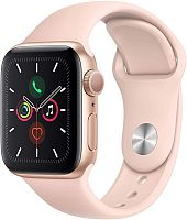 продажа Apple Watch Series 5 40mm Case Gold Aluminium Sport Band Pink Sand