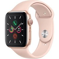 продажа Apple Watch Series 5 44mm Gold Aluminium Case with Pink Sport Band