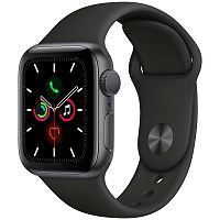 продажа Apple Watch Series 5 44mm Case Space Grey Aluminium Sport Band Black