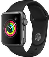 продажа Apple Watch Series 3 42mm Case Space Grey Aluminium Sport Band Black