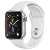 продажа Apple Watch Series 4 40mm Case Silver Aluminium Sport Band White