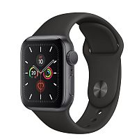 продажа Apple Watch Series 5 40mm Case Space Grey Aluminium Sport Band Black