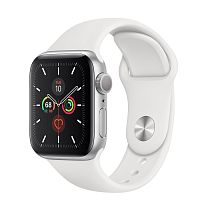 продажа Apple Watch Series 5 44mm Case Silver Aluminium Sport Band White